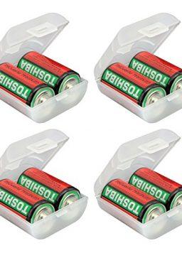 Whizzotech C Battery Organizer Storage Case