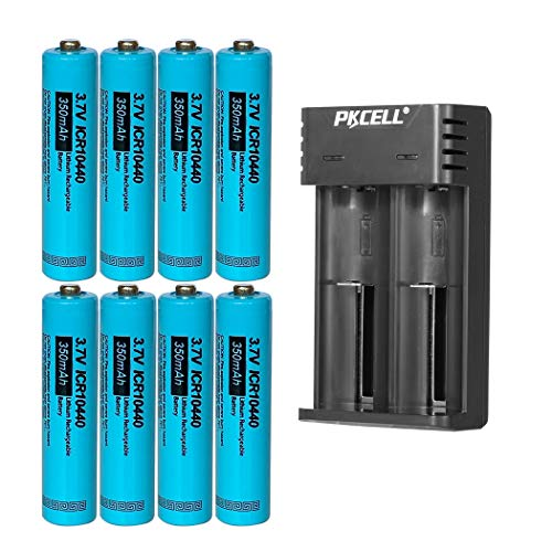 8Pcs AAA Size 3.7V 350MAH Lithium Rechargeable Battery