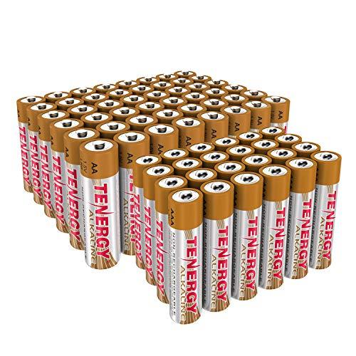 Combo 48xAA 24xAAA Tenergy 1.5V Alkaline Batteries