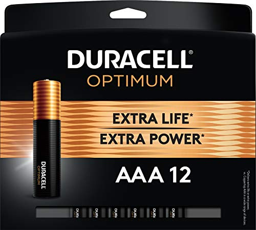Duracell Optimum AAA Batteries | 12 Count Pack