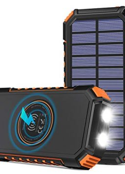 Riapow Solar Power Bank 4 Outputs USB C Quick Charge