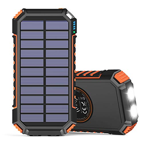 Solar Charger 26800mAh, Hiluckey Wireless Portable Charger