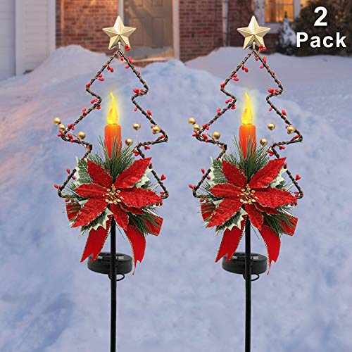 MAGGIFT 32 Inches Solar Christmas Decorations Outdoor LED