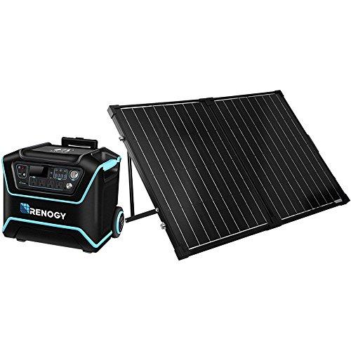 Renogy Generator with 2 Pcs 100W Solar Panel Suitcases