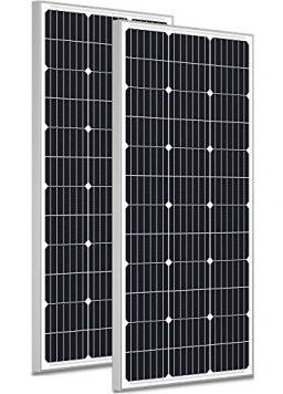 SOLPERK 200W Solar Panels 12V, Monocrystalline Solar Panel Kit