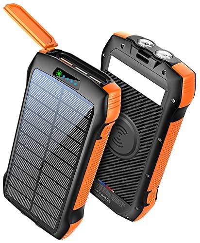 Power Bank Fast Charging 33500mAh Solar Phone Charger