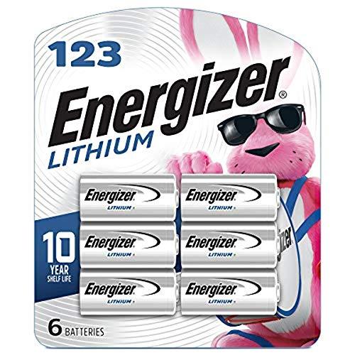 Energizer 123 Lithium Batteries (6 Pack)