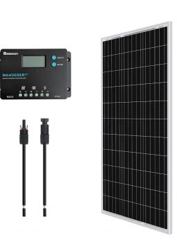 Renogy 12V 100W Monocrystalline Bundle Kit solar panel