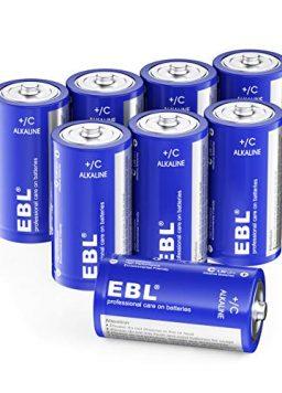 EBL C Batteries Alkaline C Batteries
