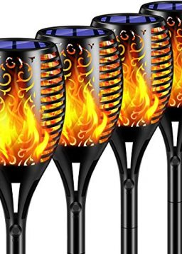 TomCare Solar Lights 99 LED Flickering Flame Solar Torches
