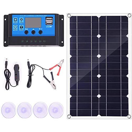 Fauge 100W Solar Panel Kit with Controller 12V/24V Battery Charger