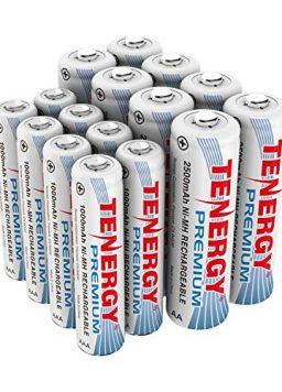 Rechargeable Battery Package: 8 AA 2500mAh + 8 AAA 1000mAh