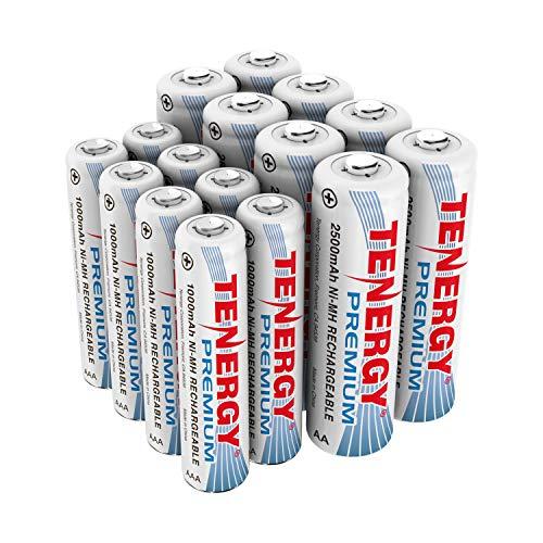 Tenergy Premium AA and AAA NiMH Rechargeable Batteries