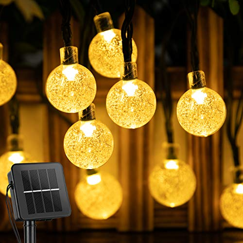 Solar String Lights Outdoor 60 Led