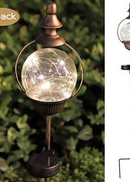 ExcMark Solar Garden Lights Outdoor Decorative Stakes