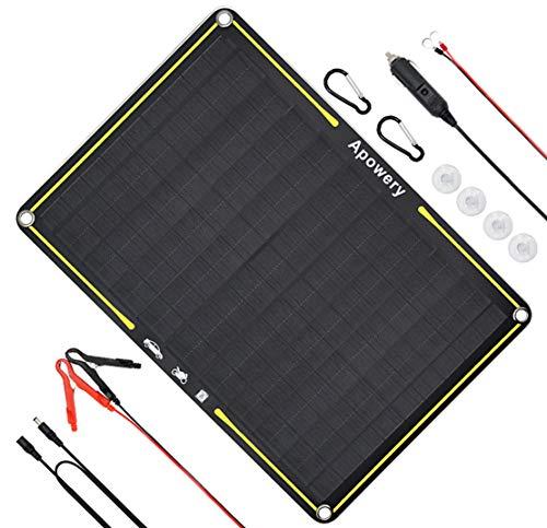 Apowery 12 Volt 10 Watt Solar Car Battery Charger
