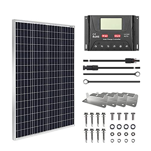 HQST 100W 12V Monocrystalline Solar Panel Kit