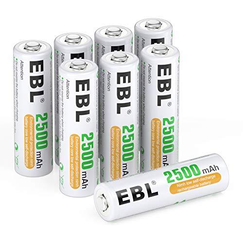 EBL AA Rechargeable Batteries 1.2V 2500mAh High Performance
