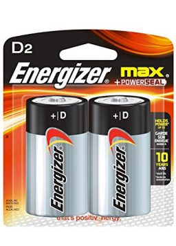 Energizer MAX D Alkaline Batteries, 2-Count