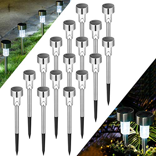 Solpex 16 Pack Solar Lights Outdoor Pathway