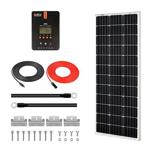 RICH SOLAR 100 Watts 12 Volts Monocrystalline Solar Starter Kit