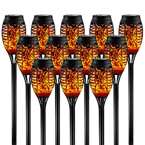 Otdair Solar Torch Lights with Flickering Flame