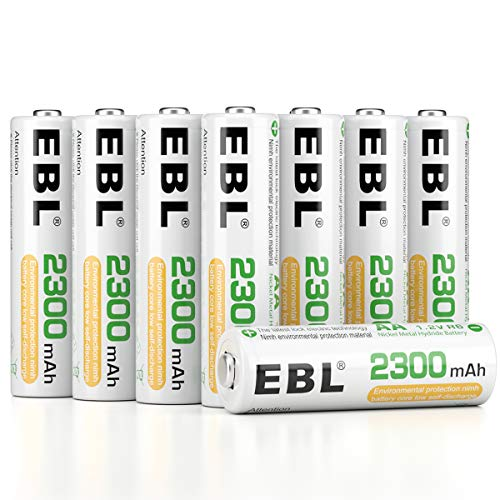 EBL Pack of 16 AA Batteries Rechargeable