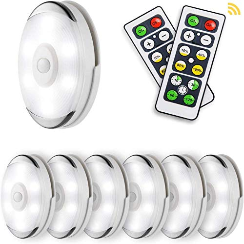 Lightess LED Puck Lights Wireless Closet Light with Remote Control