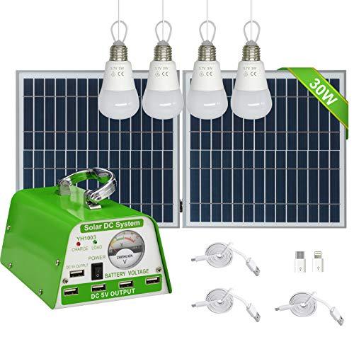 [30W Panel Foldable] GVSHINE Solar Panel Lighting Kit