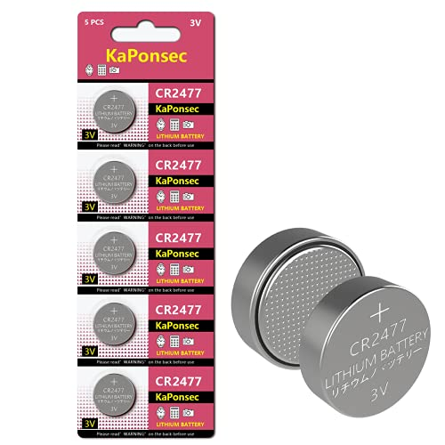 KaPonsec 3V Lithium Coin Cell Battery(Pack of 5)