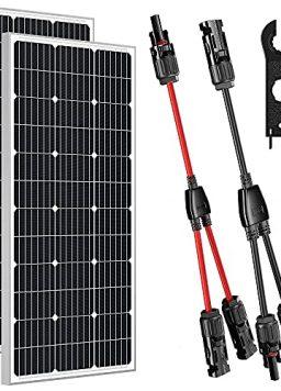 200W Solar Panels 12V with Solar Connectors Y Branch