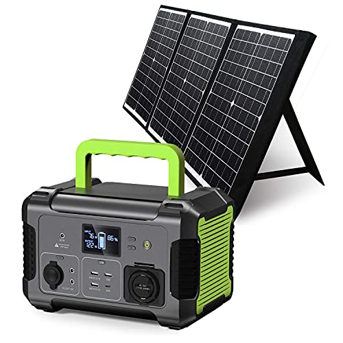 PAXCESS Portable Power Station 300W with Solar Panel Included