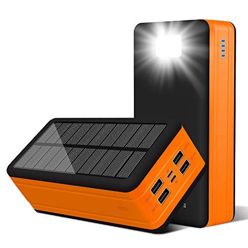 PSOOO Solar Power Bank 50000mAh Phone Charger