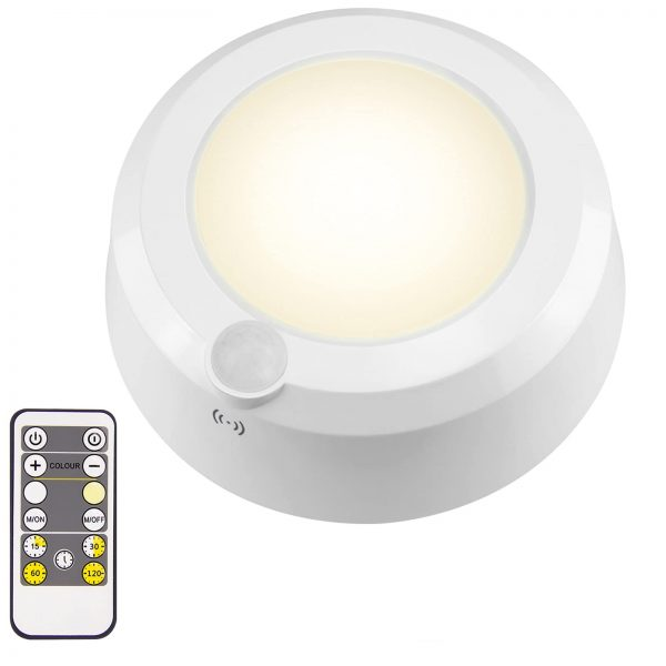 Battery Operated Overhead Shower Light with Motion