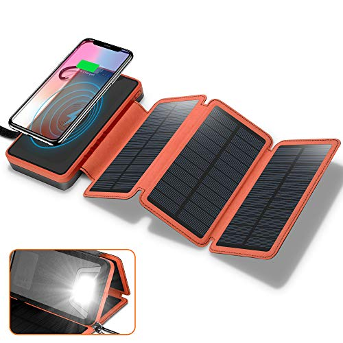 Solar Charger 20000mAh, 4.5W Wireless Charger Portable