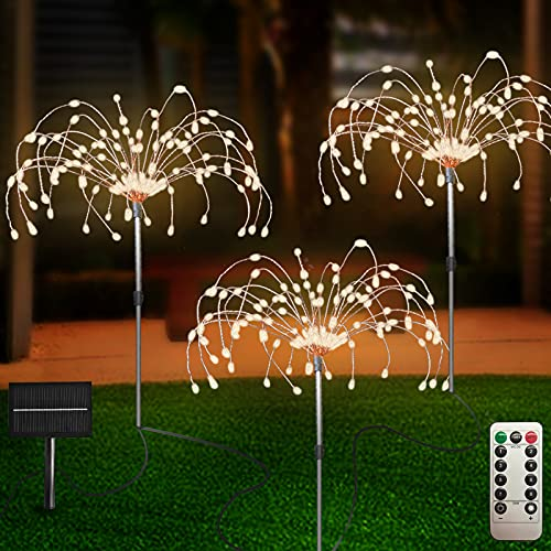 Out of doors Photo voltaic Backyard Lights 3 Pack, 120 LED