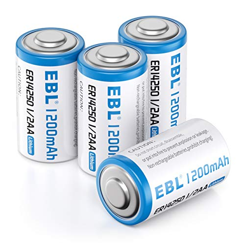 ER14250 3.6 Volt Lithium Batteries, 1200mAh High Capacity Batterie