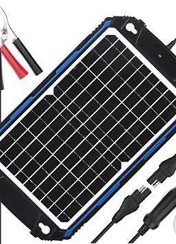 SUNER POWER Waterproof 12V Solar Battery Charger & Maintainer