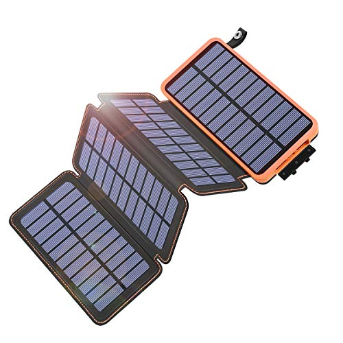Tranmix Portable Solar Phone Charger with 4 Solar Panels
