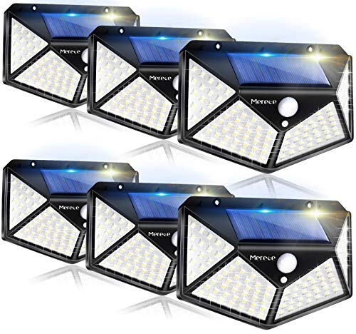 Solar Lights Outdoor 6 Pack, 100LED/3 Modes 270° Lighting Angle