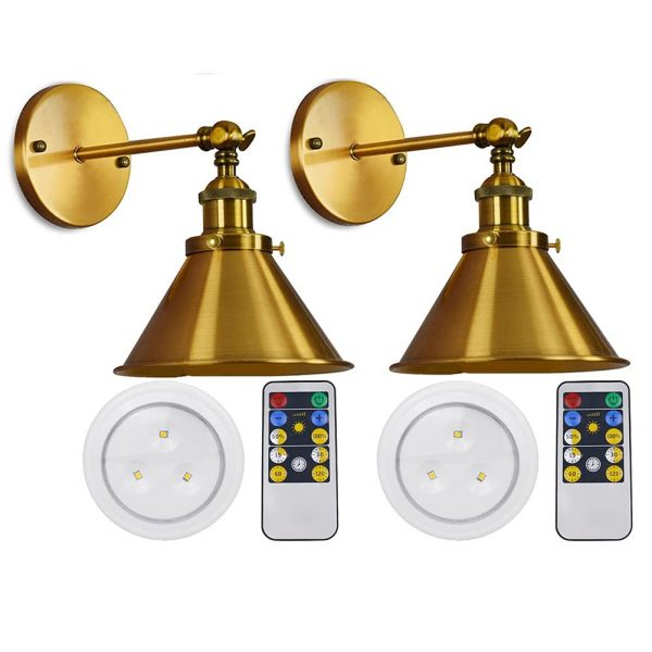 Wall Sconce Fixture Battery Operated Lights