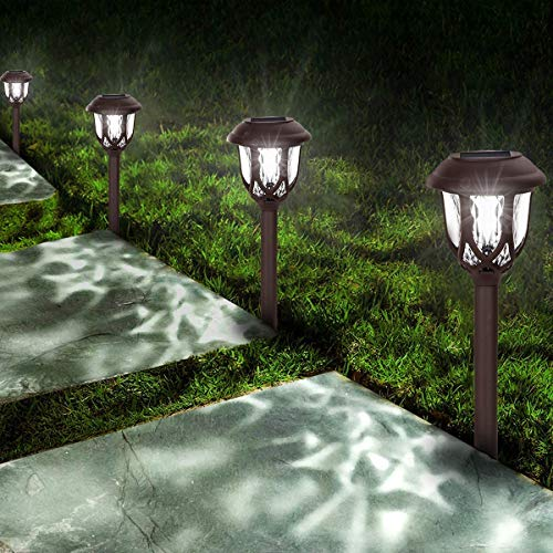 Solar Lights Outdoor Decorative,10 Packs Solar Pathway Lights