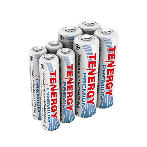 Tenergy Premium NiMH Rechargeable Battery Package