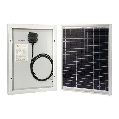 HQST Solar Panel 20 Watt 12Volt Polycrystalline Portable