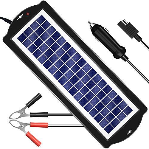 POWISER 3.5W Solar Battery Charger 12V Solar Powered Battery