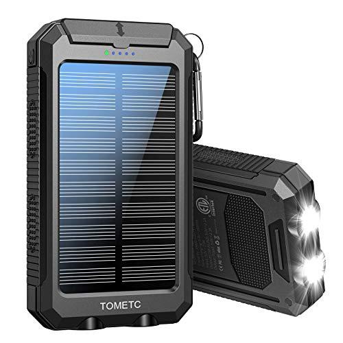 Solar Power Bank 33800mAh Portable Solar Charger 5V3.1A