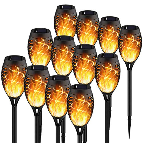 KYEKIO Upgraded 12Pack Torches, Solar Lights Outdoor