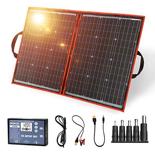 DOKIO 110W Portable Foldable Solar Panel Kit Lightweight