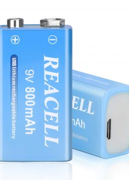 9V Rechargeable Batteries Quick Charge