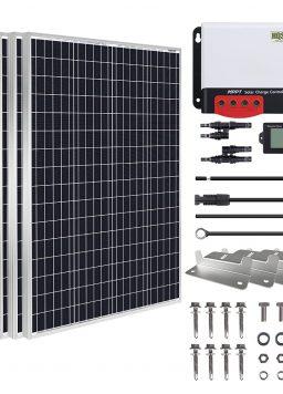 HQST 600 Watt 12 Volt Monocrystalline Solar Panel Kit